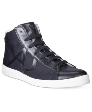 Armani Jeans Men's Hightop Sneakers Men's Shoes