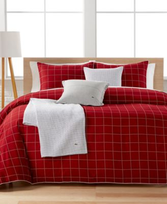 lacoste auckland red comforter sets - bedding collections - bed