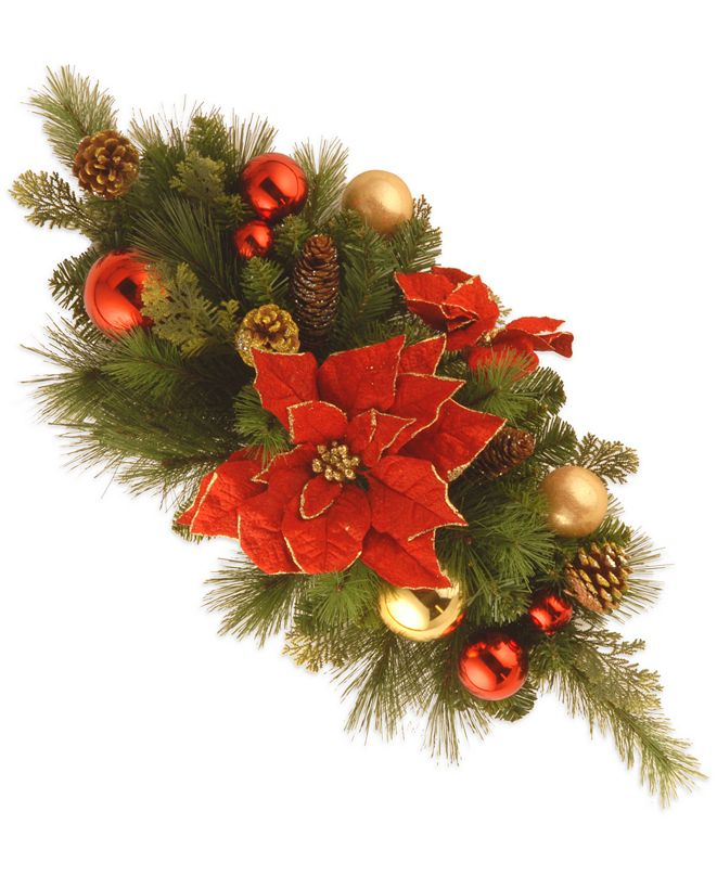 """National Tree Company 30"""" Decorative Collection """"Home For the Holidays"""" Centerpiece"""