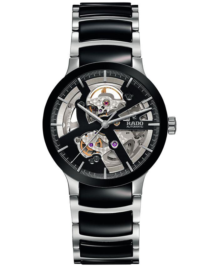 Rado - Men's Swiss Automatic Centrix Open Heart Two-Tone Stainless Steel & High Tech Ceramic Bracelet Watch 38mm R30178152