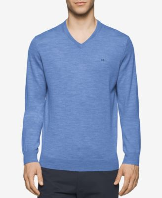 Image of Calvin Klein Men's Merino V-Neck Sweater