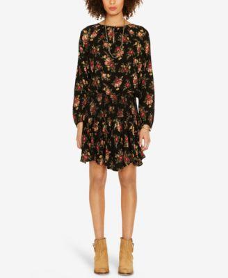 Denim Amp Supply Ralph Lauren Lace Trim Maxi Dress Dresses