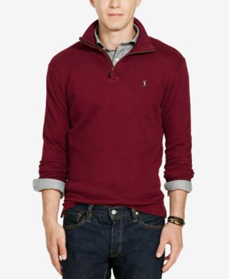Image of Polo Ralph Lauren Men's Estate Rib Half Zip Sweater