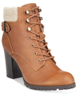 Style & Co. Caelie Lace-Up Ankle Booties, Only at Macy's Women's Shoes
