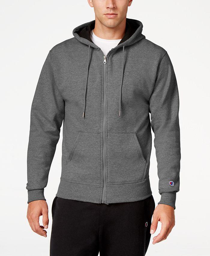 Champion - Men's Powerblend Fleece Zip Hoodie