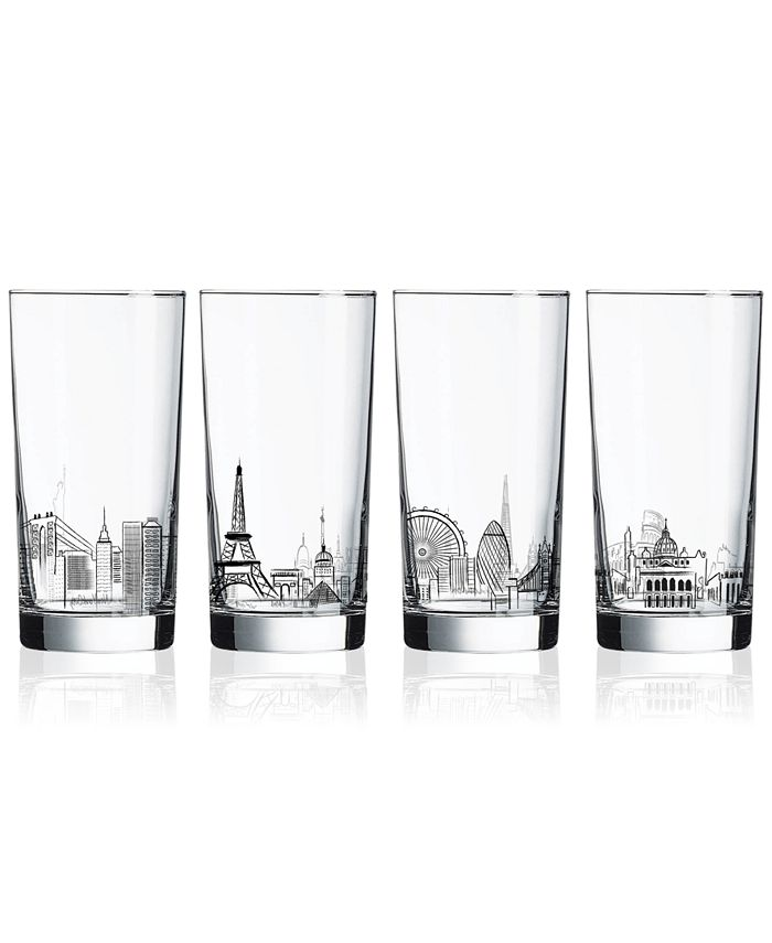 Luminarc - Skylines 4-Pc. Highball Glass Set