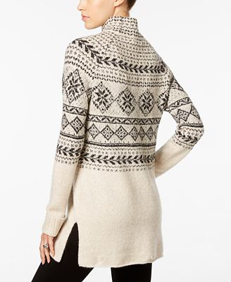 Style & Co. Fair Isle Tunic Sweater, Only at Macy's - Sweaters ...