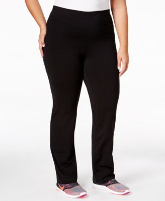Material Girl Active Plus Size Colorblocked Yoga Pants, Only at ...