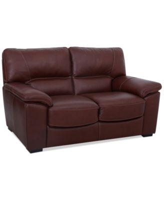 Almafi Leather Loveseat Furniture Macy S