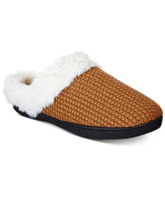 Image of Isotoner Women's Chunky Knit Willow Hoodback Slippers