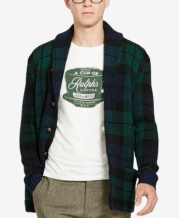 Polo Ralph Lauren Men's Plaid Shawl Cardigan - Sweaters - Men - Macy's