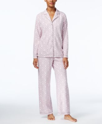 Image of Charter Club Printed Fleece Pajama Set, Only at Macy's