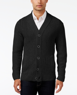 Men's Vintage Style Sweaters – 1920s to 1960s Alfani Mens Two-Pocket Textured Cardigan Only at Macys $49.99 AT vintagedancer.com