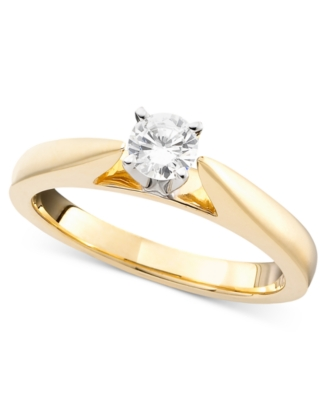 14k Gold Diamond Solitaire Ring (1/3 ct. t.w.)