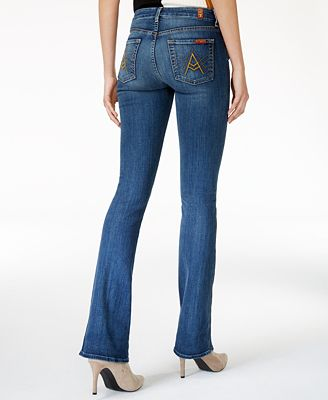 7 For All Mankind Crete Island Wash Ripped Bootcut Jeans - Jeans ...