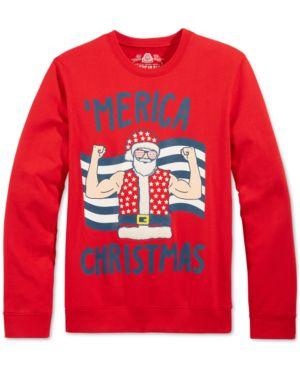 American Rag Men's Santa 'Merica Christmas Sweatshirt, Only at Macy's