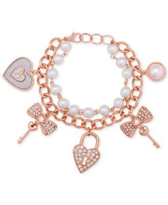 GUESS GoldTone Pav Charm Bracelet Fashion Jewelry Jewelry