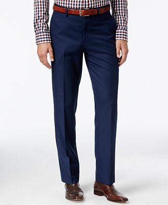 Lauren Ralph Lauren Men's Classic-Fit Navy Blue Tic Dress Pants ...