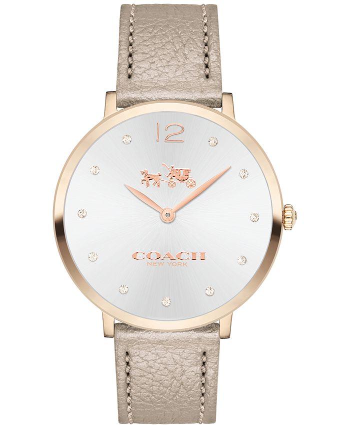 COACH - Women's Slim Easton Champagne Leather Strap Watch 35mm 14502684