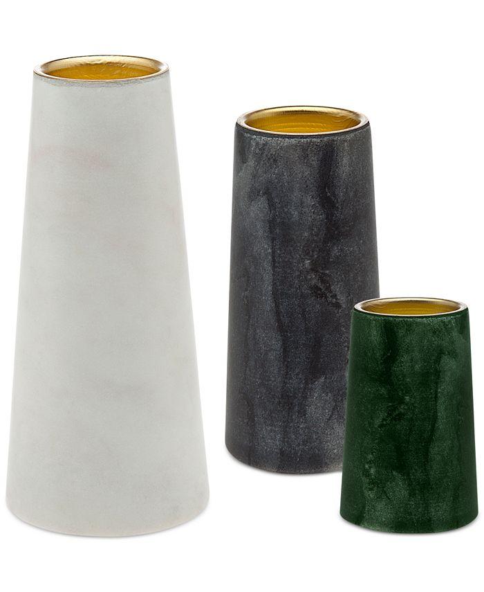 Godinger - 3-Pc. Marble Votive Set