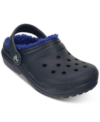 Crocs Classic Clogs with Faux-Fur