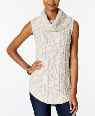 XOXO Juniors' Pointelle Tunic Sweater - Sweaters - Juniors - Macy's