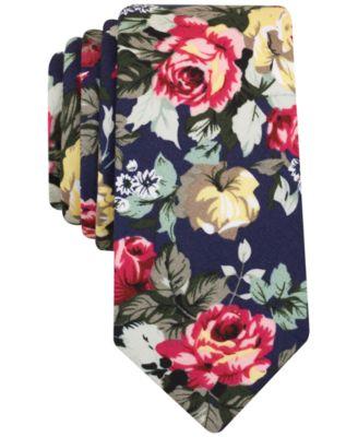 Bar Iii Men S Botanical Bougner Fl Slim Tie Only At Macy