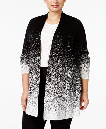 Charter Club Plus Size Ombré Duster Cardigan, Only at Macy's ...
