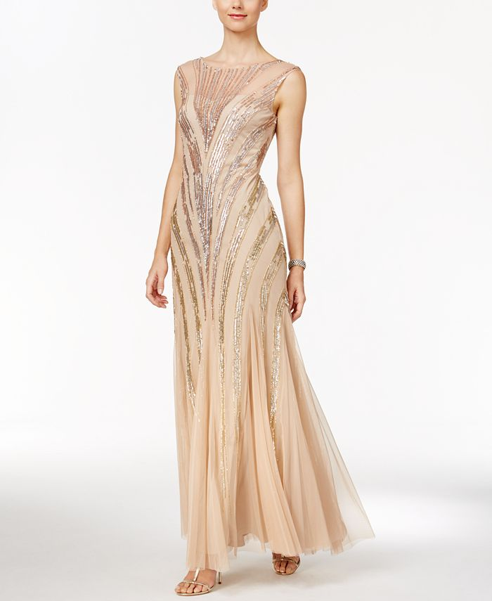 Adrianna Papell - Sequin Mermaid Gown
