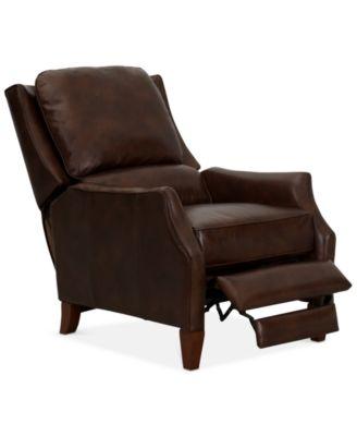 Barrett Leather Recliner Furniture Macy S