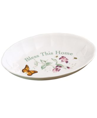 Lenox Serveware, Butterfly Meadow Tray Bless This Home