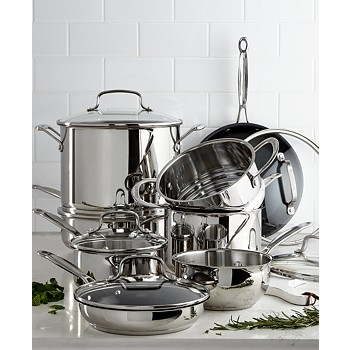 14-Piece Cuisinart Chef's Classic Stainless Steel Cookware Set