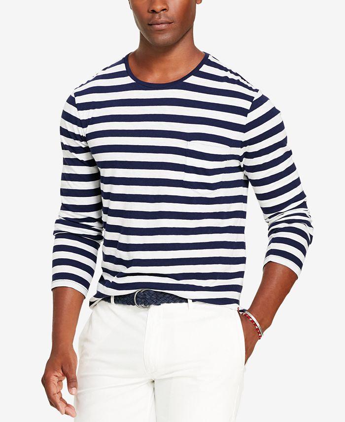 Polo Ralph Lauren Men's Striped Long-Sleeve T-Shirt & Reviews - T ...