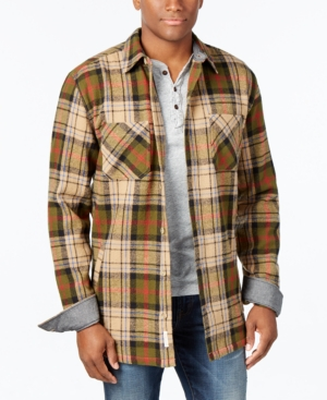 1950s Style Mens Shirts Weatherproof Vintage Mens Big and Tall Twill Plaid Shirt Jacket $29.99 AT vintagedancer.com
