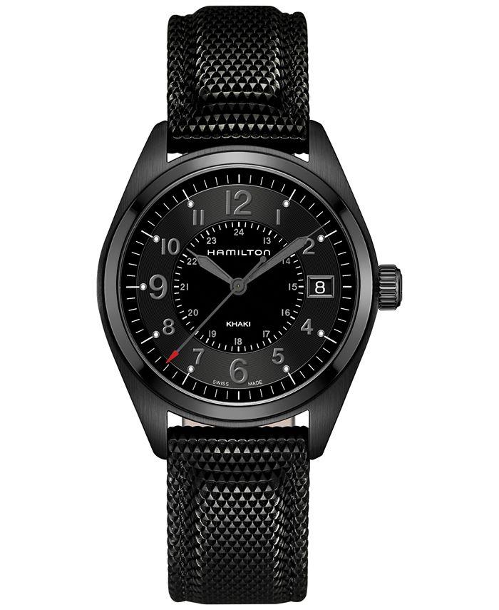 Hamilton - Men's Swiss Khaki Field Black Rubber Strap Watch 40mm H68401735