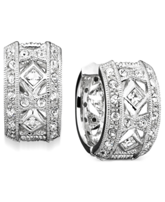 Eliot Danori Crystal Accent Huggie Earrings
