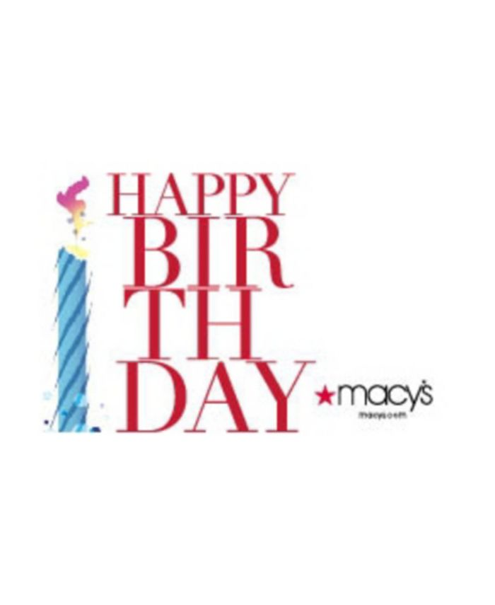 Macy's - Happy Birthday!