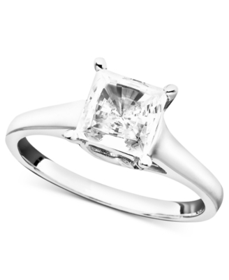 Platinum Certified Princess-Cut Diamond Solitaire Ring (1-1/2 ct. t.w.)