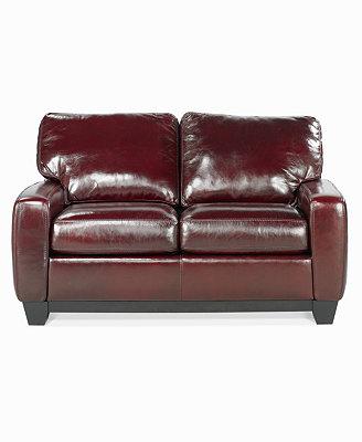 Hampton Leather Sofa Bed Full Sleeper Furniture Macy s