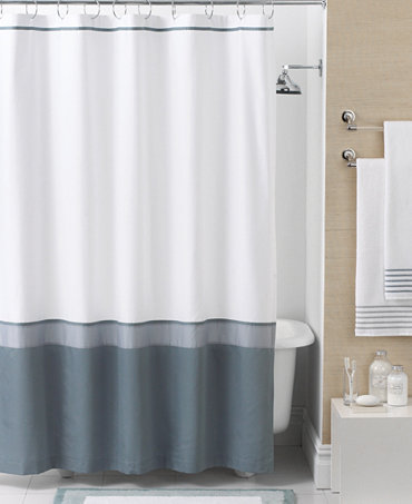 hotel collection bath accessories color block shower curtain shower