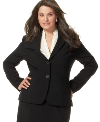 Jones New York Plus Size Jacket, Suiting - Blazer