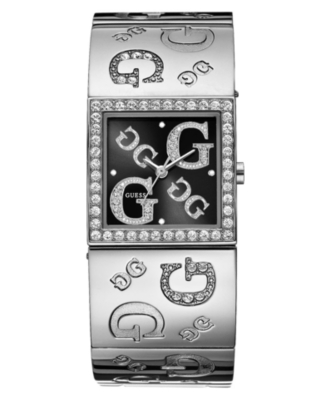 GUESS Watch, Women's Crystal Accented Bangle Bracelet U85056L2
