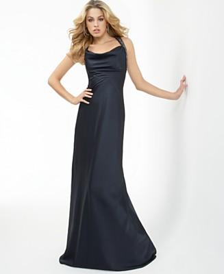 BCBGMAXAZRIA Sleeveless Halter Gown - New Arrivals - Women's - Macy's
