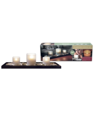 3-Piece Flameless Candle Set with Tray