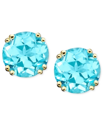14k Gold Blue Topaz Studs (4-1/2 ct. t.w.)