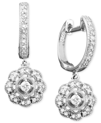 14k White Gold Diamond Earrings (1/3 ct. t.w.)