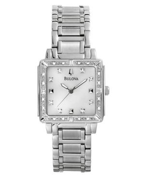 Bulova Watch, Women's Stainless Steel Bracelet 25mm 96R107