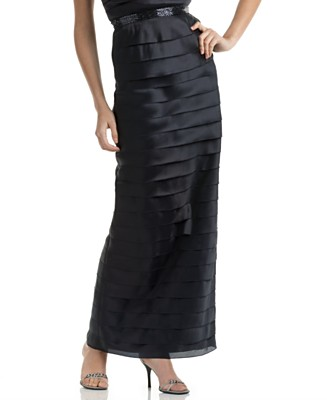 Calvin Klein Tiered Long Skirt - Dresses - Women's - Macy's :  tier skirt tiered layers satin skirts