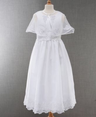 Bonnie Jean Girls Embroidered Communion Dress