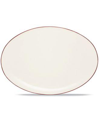 "Noritake ""Colorwave Raspberry"" Oval Platter, 16"""